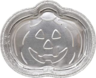 12 Jack O'Lantern Pumpkin Shaped Baking Pans Disposable Aluminum Foil Cake Pan Mold Festive halloween Specialty Novelty Bakeware For Baking and Decorating Supplies Party Decorations