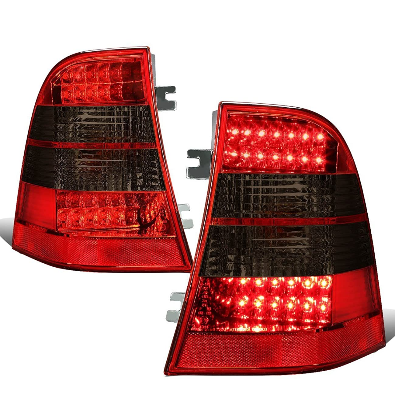 DNAMotoring TL-LED-W163-RD-SM Tail Light Assembly, Driver and Passenger Side