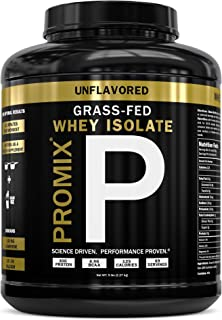 Sponsored Ad - Grass Fed USA Whey Protein Isolate Powder I Native & Cold Processed I PROMIX 100% All Natural Undenatured I...