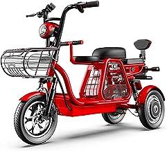 Bicicletas Eléctricas, Triciclo eléctrico, viaje de padre-hijo de tres plazas, 48V500W súper potencia, GPS de posicionamiento / suspensión independiente / caja de almacenamiento grande, scooter de la