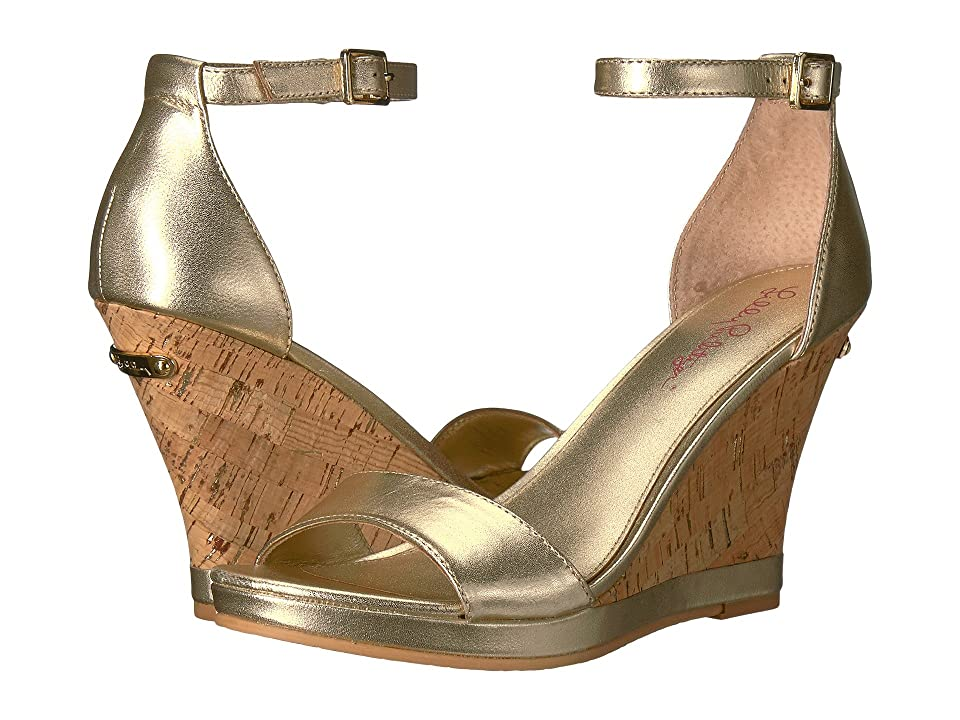 Lilly Pulitzer Kayla Wedge (Gold Metallic Leather) Women
