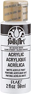 FolkArt K901 Acrylic Paint in Assorted Colors (2 oz), 901, Wicker White