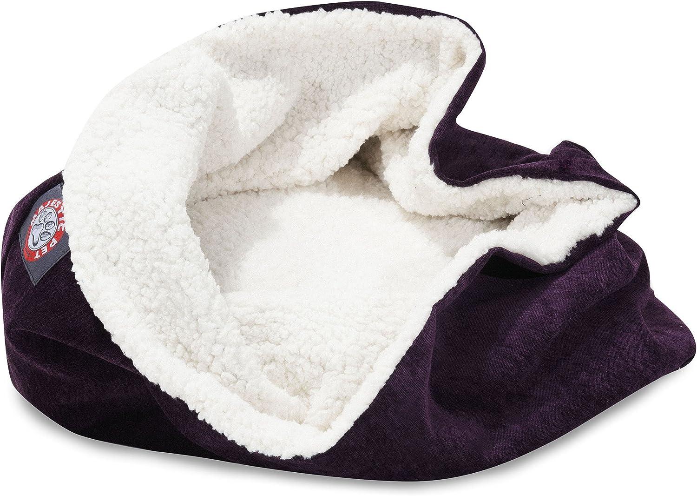 17 inch Villa Aubergine Burrow Cat Bed
