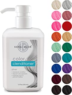 Sponsored Ad - Keracolor Clenditioner Hair Dye (18 Colors) Depositing Color Conditioner Colorwash, Semi Permanent, Vegan a...