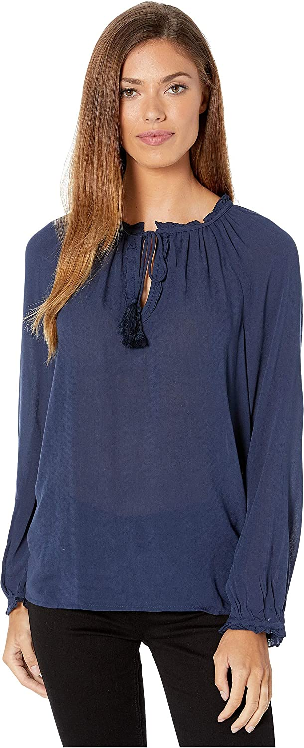 Lucky Brand Women's Giselle Top Peasant Directly managed store Ruffle Max 83% OFF