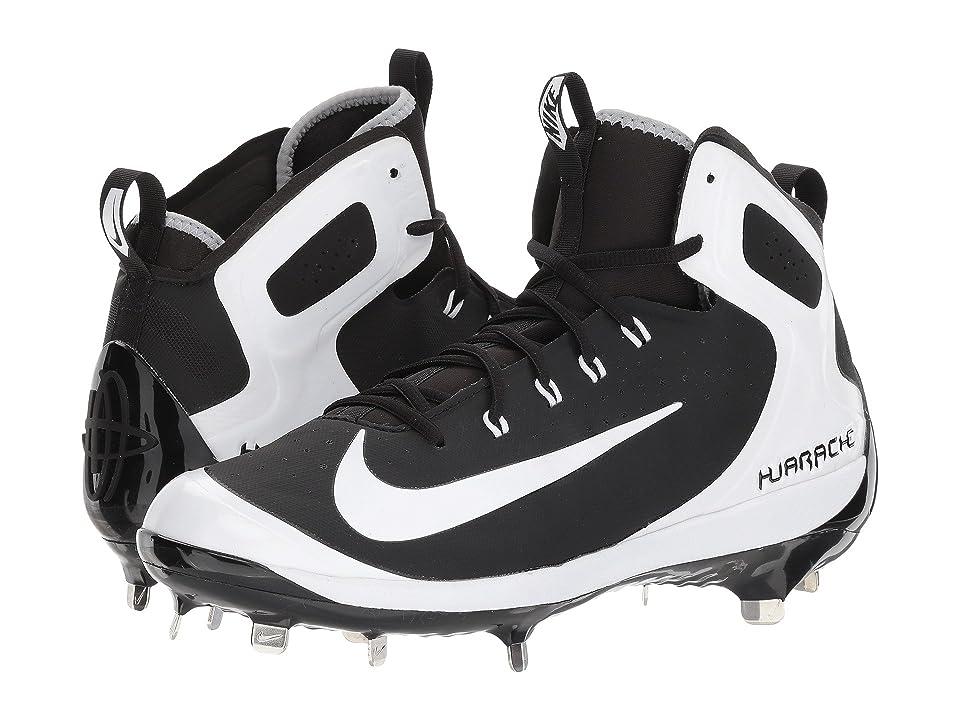 Nike Alpha Huarache Elite (Black/White/Wolf Grey/Grey) Men