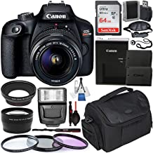 $349 » Canon EOS Rebel T100 DSLR Camera with EF-S 18-55mm f/3.5-5.6 III Lens & Deluxe Accessory Bundle - Includes: Extended Life LPE10 Spare Battery, Digital Slave Flash, Protective Carrying Case & Much More