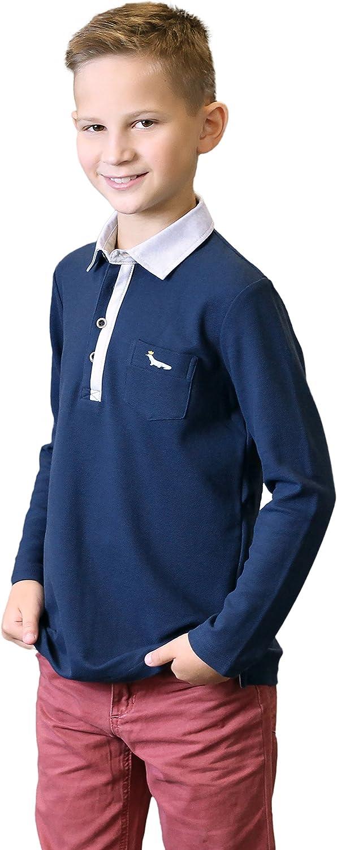 Bébé Garçons Ex Mini Boden Pique Polo Coton Top T-shirt taille 2-3 ans bleu marine