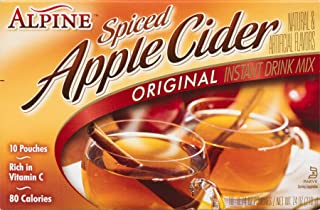 Alpine Spiced Cider Apple Flavor Drink Mix, 10-Count, 0.74-Ounce Pouches (Pack of 12)