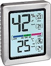 TFA Dostmann 30.5047.54 Exacto Digitale thermo-hygrometer, bijzonder nauwkeurig met precisiesensor (roestvrij staal met ba...