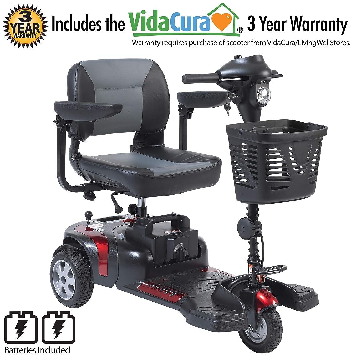 "Drive Medical Phoenix 3 Wheel Heavy Duty Scooter, 17.5"" Wide Seat Including 5 Year Extended Warranty"