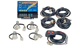 Wolo (8104XL-1CCCC) Lightning XL 80 Watt Power Supply Four Bulb Emergency Warning Strobe Kit - 4 Clear Bulbs