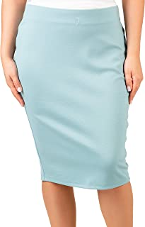 Lavira Women's Plus Size Skirt Lady Sizes 8-22, Color: Beige, Green, Light Blue