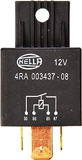 HELLA 4RA 003 437 081 Relais, Arbeitsstrom   12V   4 polig   Schaltbild: S1   Stecker: B3   Hochleistungs Schließer   Farbe: schwarz   mit Halter