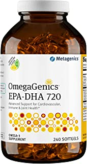 Metagenics - OmegaGenics® EPA-DHA 720 – Omega-3 Fish Oil – Daily Supplement, 240 count