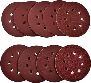 Sponsored Ad – 108Pcs Sanding Discs Pads, papasbox 8 Hole 5 Inch Sanding Discs, Hook and Loop 60 80 120 180 240 320 400 60...