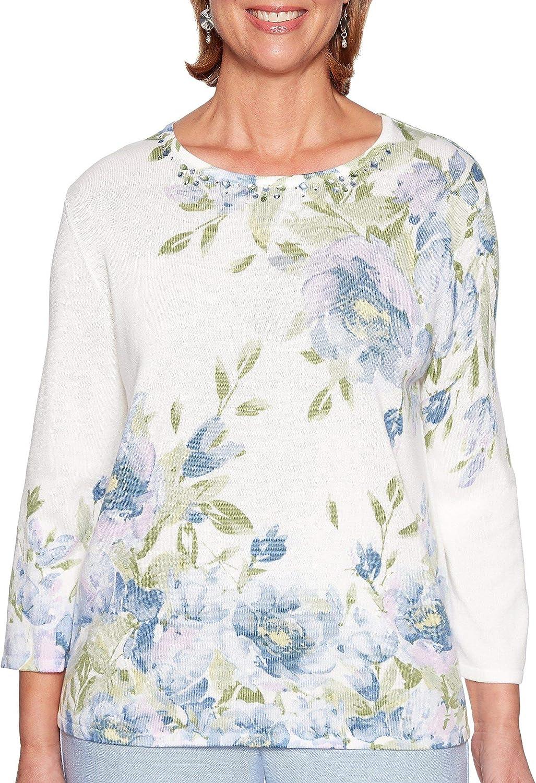 Alfred Dunner Women's South Hampton Botanical Sweater