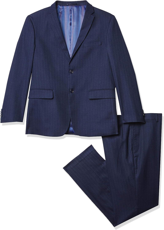 Kitonet Men's 2-Piece Pinstripe Slim Fit Suit