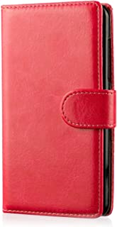 32nd Book Wallet Faux Leather Flip Case Cover for BlackBerry Classic (Q20) - Red