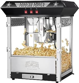 Great Northern Popcorn Black Paducah 8 Ounce Bar Style Antique Popcorn Machine
