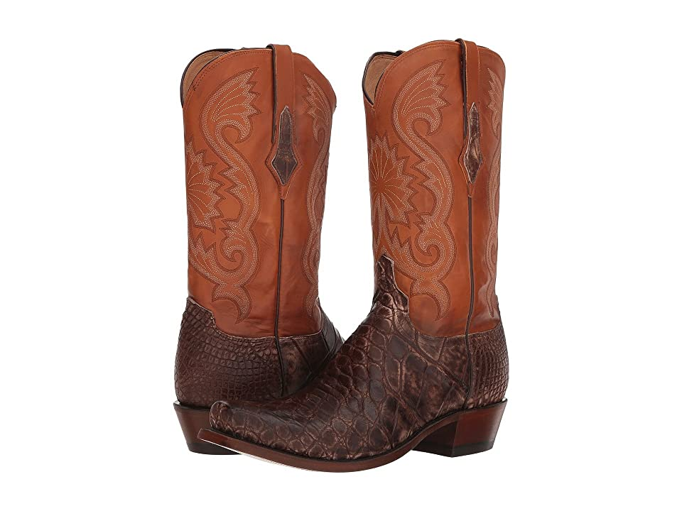 Lucchese Rio (Antique Chocolate Giant Gator) Cowboy Boots