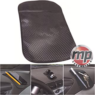 Hyundai i800 Richbrook Branded 3mm Heavy Duty Black Rubber Car Floor Mats with Red Leather Trim 2010 Onwards