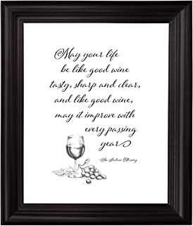 Italian Blessing Quotes Wall Art (5 X 7 inches unframed)