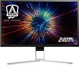 "AOC Agon AG271FZ2 27"" Gaming Monitor, FHD 1920x1080, Freesync, 240Hz, 0.5ms, Quickswitch Keypad, Ergonomic Stand, 4-Yr Zer..."