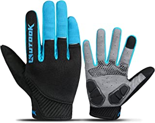 Kutook Full Finger Cycling Gloves Touch Screen Pad MTB Gloves for Men Women