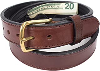 Hidden Money Pocket Travel Leather Belt