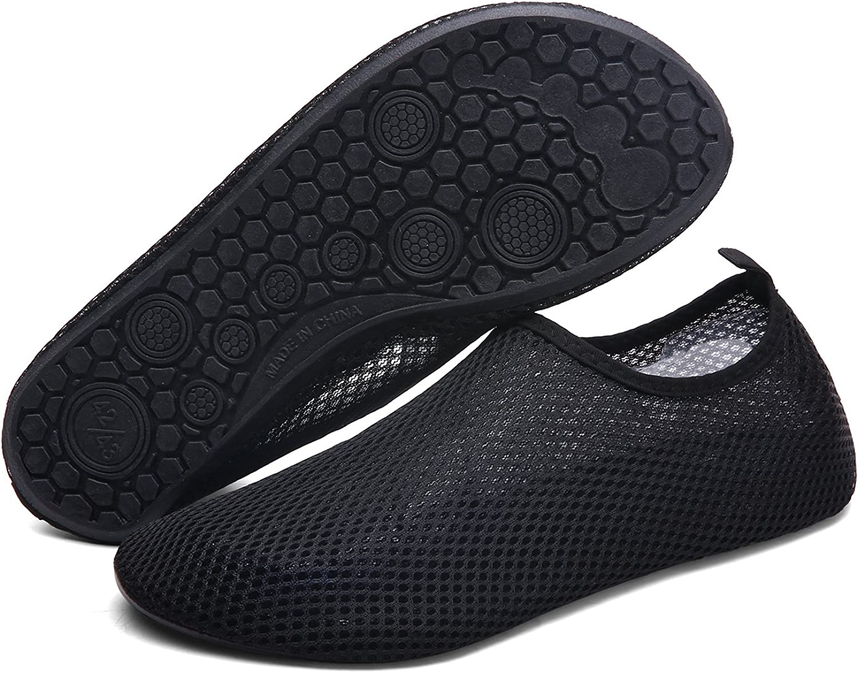 Sintiz Mens Womens Water Sports shoes Barefoot Quick-Dry Aqua Socks for Pool Beach Swim Surf Exercise