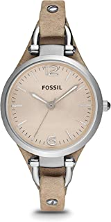Fossil Georgia Mini Women's Dial Leather Band Watch