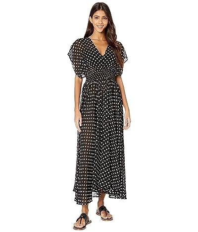Kate Spade New York Lia Dot Cover-Up Dress (Black) Women
