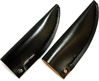 Leather Sheath with Neoprene Outer Layer for Woodcarving Knives by Deepwoods Ventures (Medium)