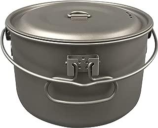 Jolmo Lander Titanium Pot with Bail Handle Outdoor Ultralight Titanium Cookware 1.3L