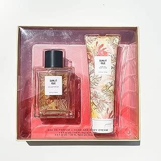 Sunlit Isle Eau De Parfum and Lotion Holiday Gift Set by Tru Fragrance - Tropical Perfume + Body Cream - Mandarin, Pineapple, Coconut Milk and Tahitian Vanilla - 3.4 oz Perfume + 4.0 oz Hand Cream