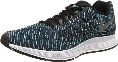 Nike Mens Air Zoom Pegasus 32 Print Running Shoe (Obsidian, Green Glow) Sz. 10.5