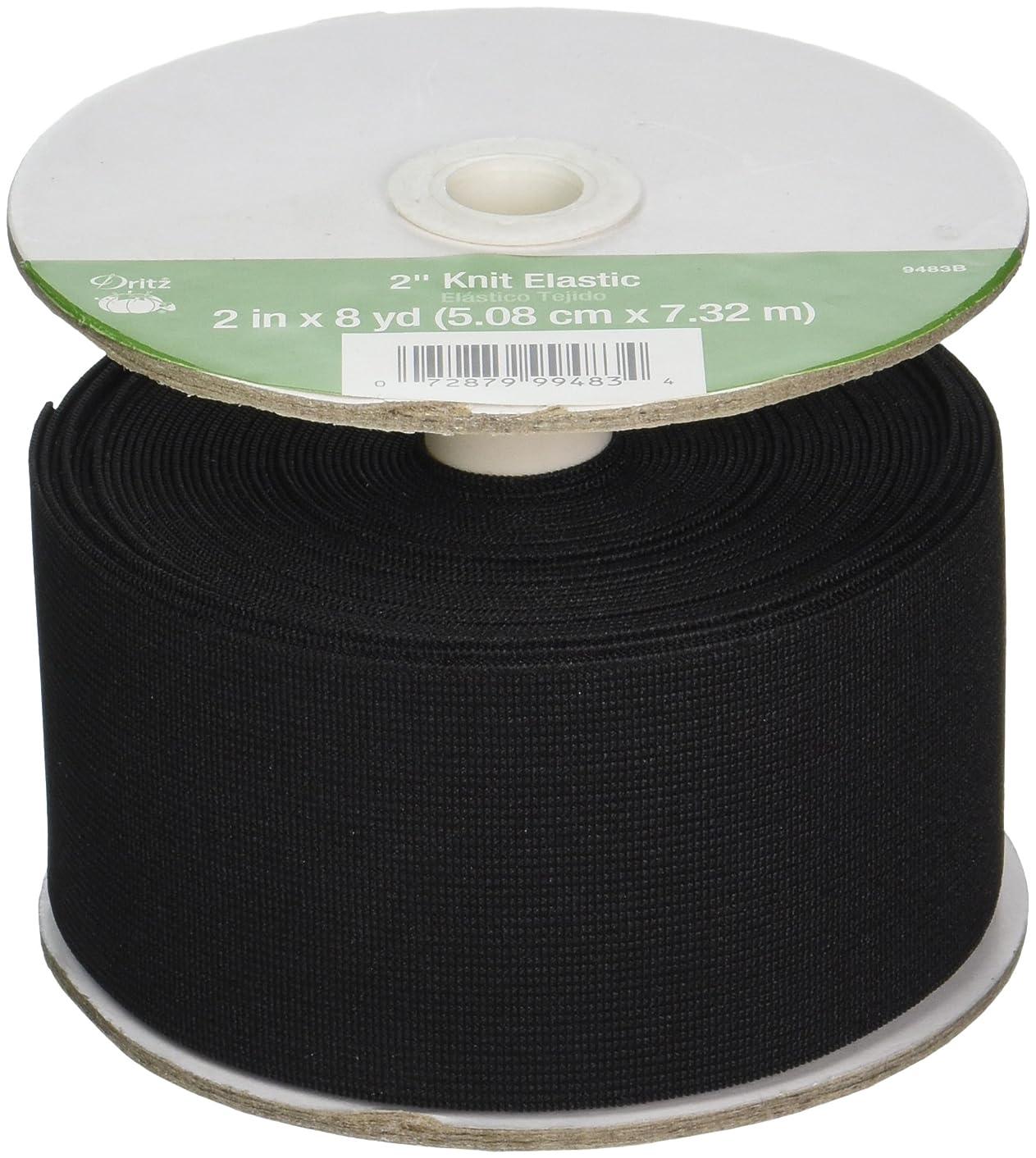 Dritz 9483B Knit Elastic, Black, 2-Inch by 8-Yard