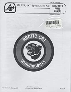 1971 ARCTIC CAT SNOWMOBILE EXT,EXT SPECIAL,KING KAT PARTS MANUAL 0185-545 (200)