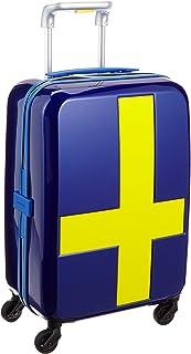 [イノベーター] スーツケース 機内持ち込み 消音キャスター INV48T 保証付 38L 55 cm 2.7kg ブルー/イエロー