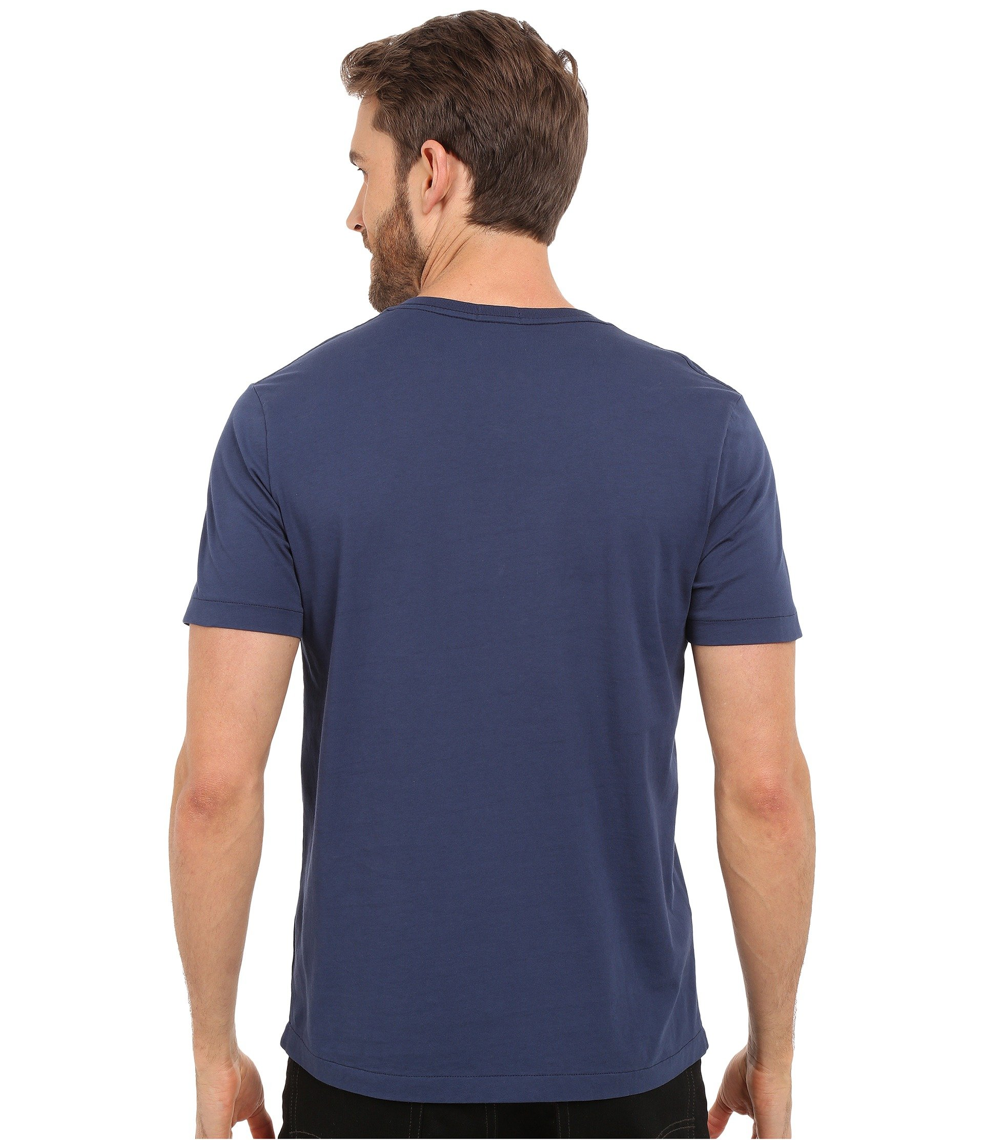 Short V neck o Navy Mar Tee Sleeve Mod New Del doc 1YwUI