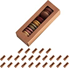 Essos Macaron Boxes for 6 to 7 Brown (Kraft) with Clear Display Window [25 pieces] Macarons Container or Packaging Box Kit...