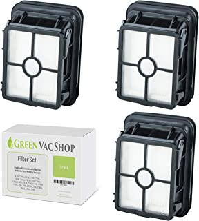 GreenVacShop 3pk Replacement Filter Set for Bissell 1866 CrossWave All-in-One 1785 17852