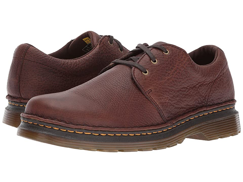 Dr. Martens Hazeldon 3-Tie Shoe (Dark Brown Grizzly) Men