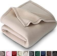 Bare Home Polar Fleece Blanket - Throw Size - Warm Cozy - Hypoallergenic Premium Poly-Fiber Yarns - Thermal - Lightweight Bed Blanket (Throw, Oyster)