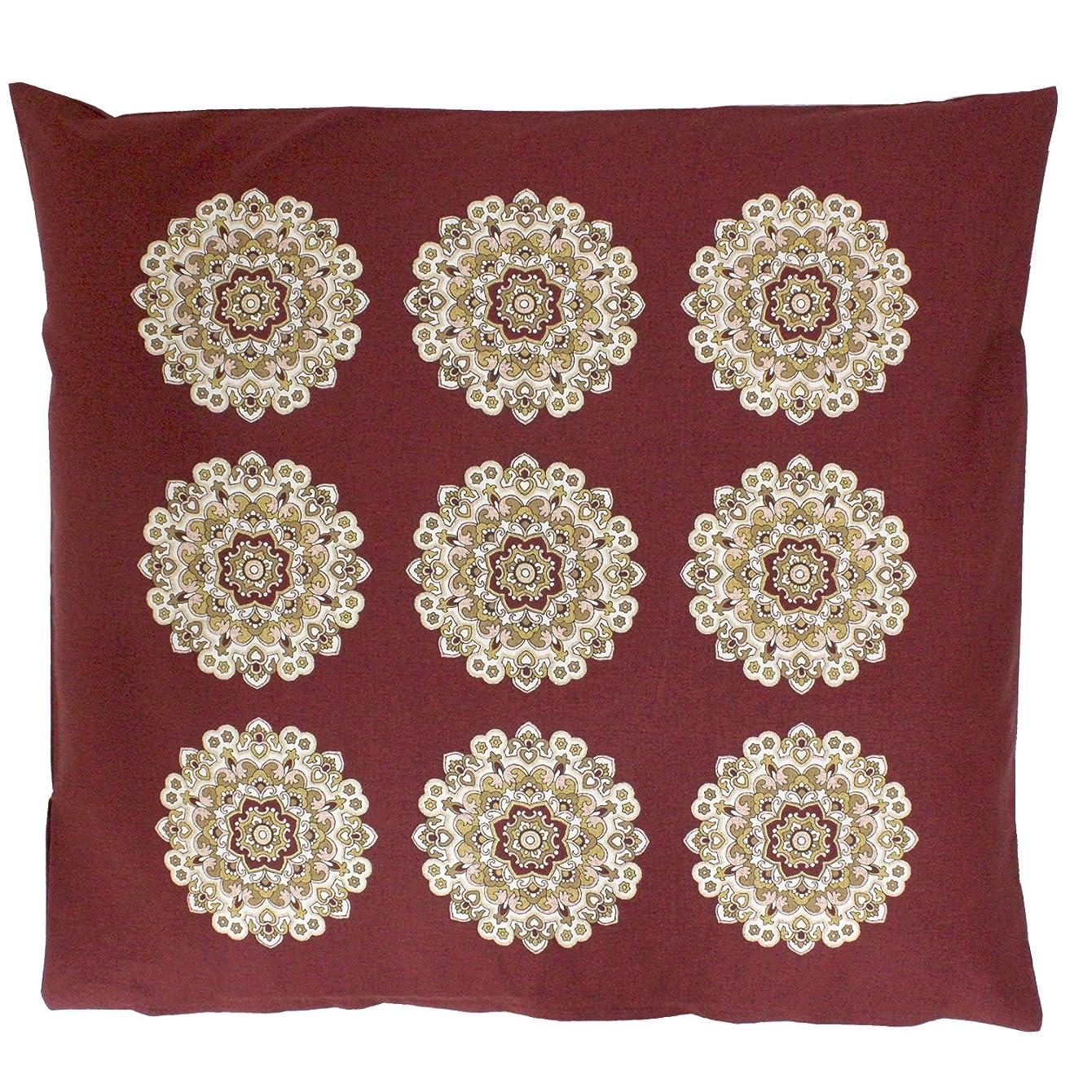 終わり定常生き残りますメリーナイト 日本製 木綿100% 座布団カバー 「雅紋」 八端判 59×63cm レッド Z59601-13