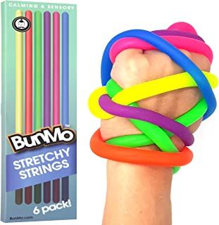 BUNMO Stress Relief Toys for Special Needs Children - Stretchy Sensory Toys for Autistic Children/ADHD/Fidgets & Anxiety Toys for Adults - 6 Pack