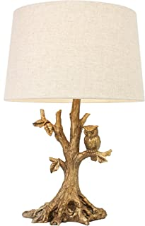 Decor Therapy Textured Gold Leaf Owl Lamp