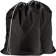 Nylon Laundry Bag - Locking Drawstring Closure and Machine Washable. These Large Bags will Fit a Laundry Basket or Hamper ...
