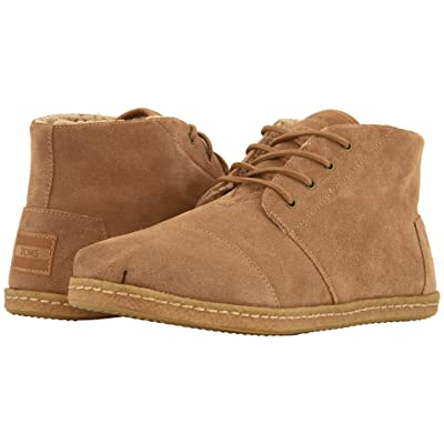 TOMS Bota (Toffee Suede w/ Faux Shearling on Crepe) Men